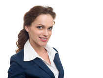 Smiling business woman portrait. Royalty Free Stock Photos