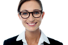 Smiling business woman posing Royalty Free Stock Images