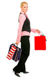 Smiling business woman with shopping bag Stock Photography