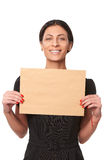 Smiling business woman showing envelope Royalty Free Stock Image