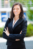 Smiling business woman standing outdoor Stock Photography