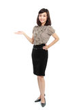 Smiling business woman in suit Royalty Free Stock Photo
