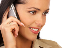 Smiling Business Woman Talking By Phone