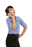 Smiling business woman talking on the phone Royalty Free Stock Image