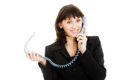Smiling business woman talking on the phone Royalty Free Stock Photo