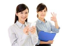 Smiling business women Stock Photos
