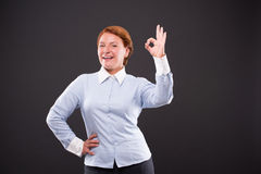 Smiling businesslady Stock Photos