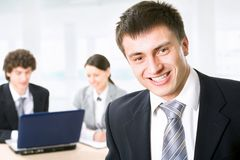 Smiling businessman Royalty Free Stock Images