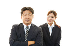 Smiling businessman and businesswoman Stock Photography