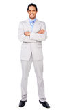 Smiling businessman with folded arms Royalty Free Stock Photo