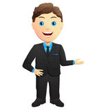 Smiling Businessman Hand Gesture Royalty Free Stock Images
