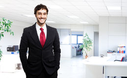 Smiling businessman in his office Stock Photography