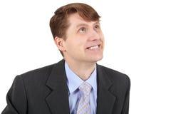 Smiling businessman isolated on white background Royalty Free Stock Image
