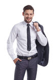 Smiling businessman looking at camera Royalty Free Stock Photo