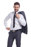 Smiling businessman looking at camera Royalty Free Stock Images