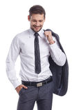 Smiling businessman looking at camera Stock Image