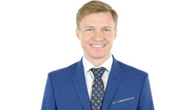 Smiling businessman looking at camera with reliability Stock Photo