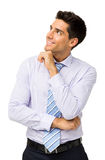 Smiling Businessman Looking Up Royalty Free Stock Images