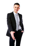 Smiling businessman offering handshake Stock Image