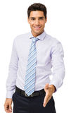 Smiling Businessman Offering Handshake Royalty Free Stock Photos