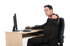 Smiling Businessman office Royalty Free Stock Photography