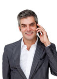 Smiling businessman on phone Stock Image