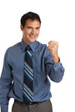 Smiling Businessman Pointing Finger Royalty Free Stock Photo
