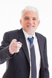 Smiling Businessman Pointing Royalty Free Stock Photography