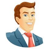 Smiling businessman Stock Images