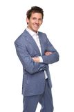 Smiling businessman posing with arms crossed Stock Photos
