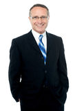 Smiling businessman posing over white Royalty Free Stock Photography