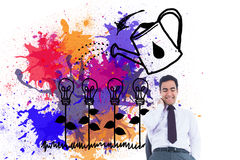 Smiling businessman standing Royalty Free Stock Image