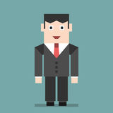 Smiling businessman standing Stock Image