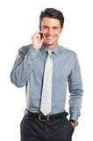 Smiling Businessman Talking On Cell Phone Stock Photography