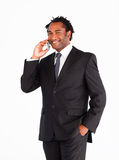 Smiling businessman talking on the phone Stock Image