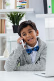 Smiling businessman talking on phone Royalty Free Stock Photo