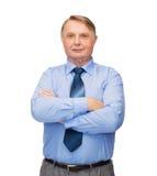 Smiling businessman or teacher Royalty Free Stock Photos