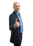 Smiling businessman with thumb up Royalty Free Stock Photo