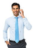 Smiling Businessman Using Smart Phone Stock Images