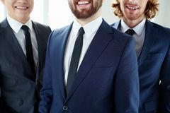 Smiling businessmen Royalty Free Stock Image