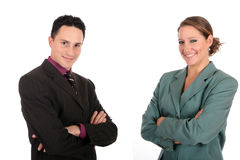 Smiling Businesspeople royalty free stock photos