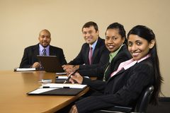 Smiling businesspeople. Stock Photos