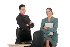 Smiling Businesspeople office Stock Image