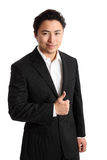 Smiling businessperson in suit and shirt Royalty Free Stock Images