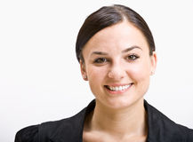 Smiling businesswoman. Portrait of a young businesswoman Stock Photo