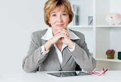Smiling businesswoman Stock Photos