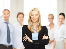Smiling businesswoman Stock Photo