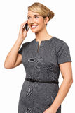 Smiling Businesswoman Answering Smart Phone Stock Photos