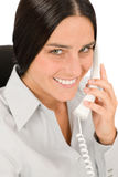 Smiling businesswoman attractive calling Royalty Free Stock Photography