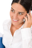 Smiling businesswoman attractive calling Royalty Free Stock Photo